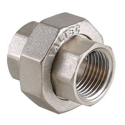 Муфта разъемная с накидной гайкой ВР-ВР никель 1