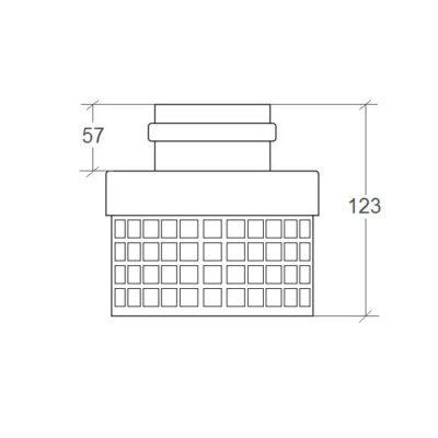 Адаптер для перехода с ∅ 60 на ∅ 80 мм с забором воздуха из помещения для котлов turboTEC размеры