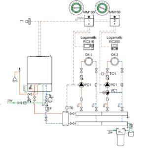 Схема подключения котла к двум контурам