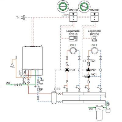 Гидравлическая схема монтажа