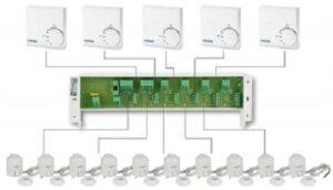 Схема подключения автоматики теплого пола
